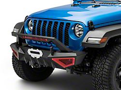 Barricade X-Series Front Bumper; Red Inserts (20-22 Jeep Gladiator JT)