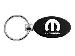 MOPAR Oval Leather Key Chain