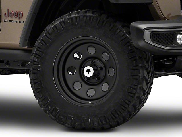 Mammoth 8 Steel Matte Black Wheel; 17x9 (20-21 Jeep Gladiator JT)