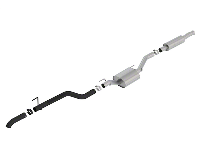 Borla Climber S-Type Single Exhaust System with Black Tip; Turn Down (20-21 3.6L Jeep Gladiator JT)