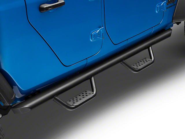 Dominator D2 Cab Length Side Step Bars; Textured Black (20-21 Jeep Gladiator JT)