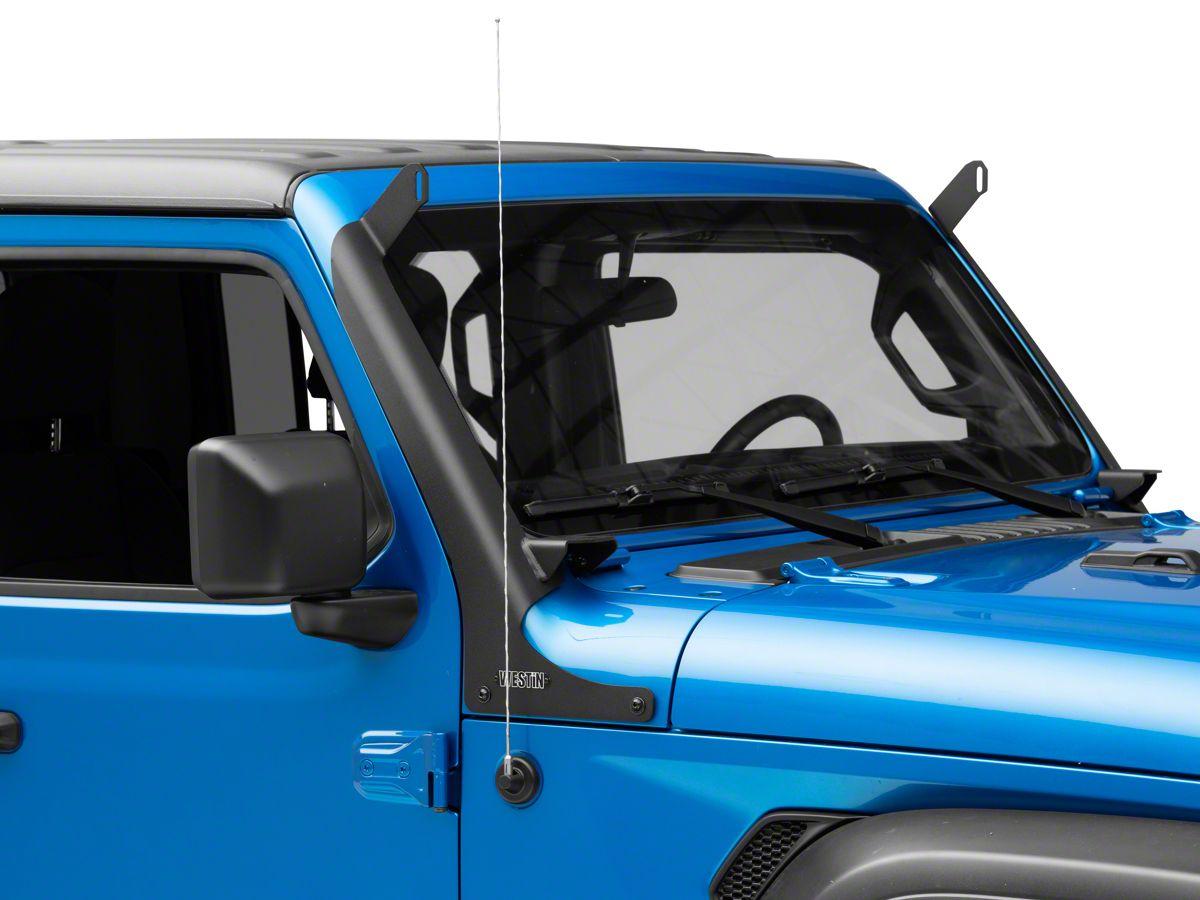 52INCH LED Light Bar Combo with Roof Bracket Set For Jeep Wrangler JL 2018 2019