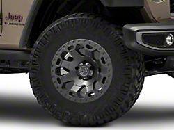 Black Rhino Warlord Matte Gunmetal Wheel; 17x9 (20-22 Jeep Gladiator JT)