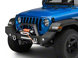 RedRock 4x4 Max-HD Full Width Winch Front Bumper with Fog Lights and LED Light Bar (20-22 Jeep Gladiator JT)