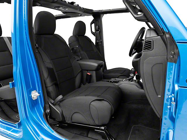 Rugged Ridge Neoprene Front Seat Protectors; Black (20-21 Jeep Gladiator JT)