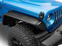 Barricade Tubular Fender Flares with LED DRL and Marker Lights; Front (20-22 Jeep Gladiator JT)