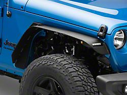 Barricade HD Flat Fender Flares with LED DRL and Turn Signal; Front (20-22 Jeep Gladiator JT)