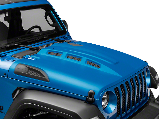 DV8 Offroad Heat Dispersion Vented Hood; Unpainted (20-21 Jeep Gladiator JT)