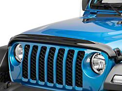 Weathertech Stone and Bug Deflector; Dark Smoke (20-21 Jeep Gladiator JT)