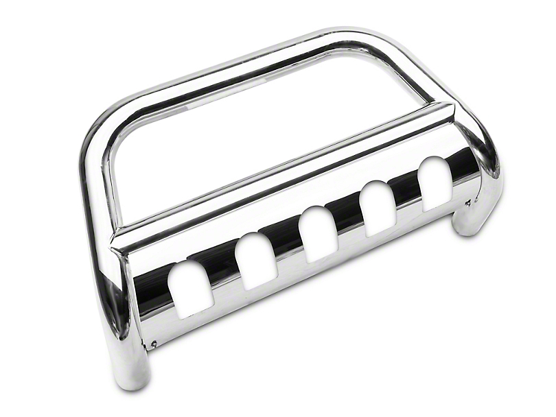 RedRock 4x4 3-Inch Bull Bar with Skid Plate; Stainless Steel (2020 Jeep Gladiator JT)