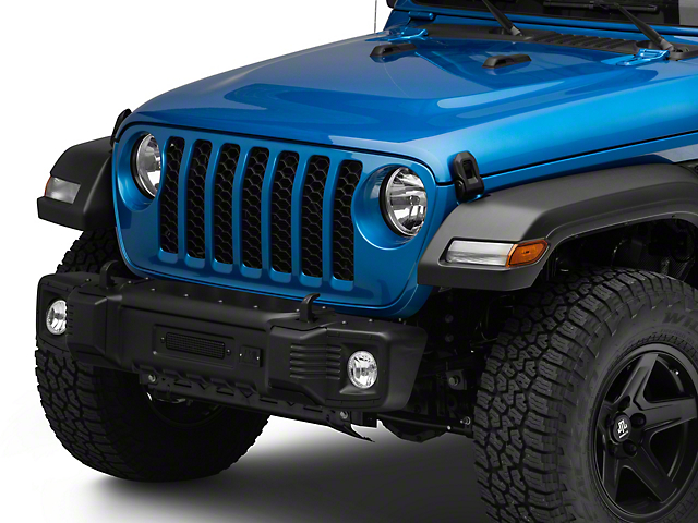 Rugged Ridge Spartacus Stubby Front Bumper; Satin Black (20-21 Jeep Gladiator JT)