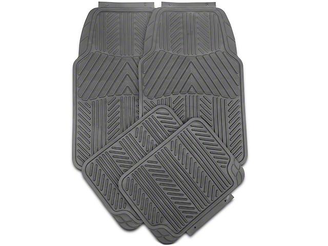 RedRock 4x4 4-Piece All-Weather Floor Mats; Black (20-21 Jeep Gladiator JT)
