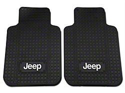 Front Floor Mats with Jeep Logo; Black (20-22 Jeep Gladiator JT)