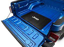 Cargo Floor Mat with Jeep Logo; Black (20-22 Jeep Gladiator JT)