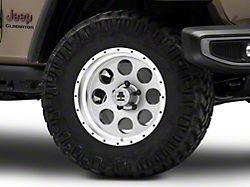 Mammoth 8 Aluminum Simulated Beadlock Anthracite Wheel; 17x9 (20-22 Jeep Gladiator JT)