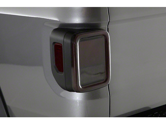 Tail Light Covers; Carbon Fiber Look (20-21 Jeep Gladiator JT)