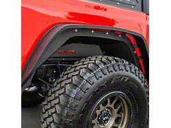 DV8 Offroad Rear Aluminum Inner Fenders; Black (20-21 Jeep Gladiator JT)