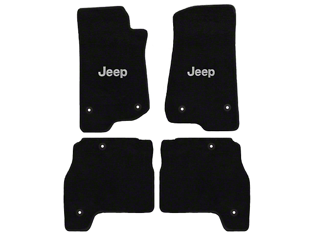 Lloyd All-Weather Carpet Front and Rear Floor Mats with Jeep Logo; Black (20-21 Jeep Gladiator JT)