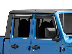 Ventguard Window Deflectors; Front and Rear; Smoked (20-22 Jeep Gladiator JT)