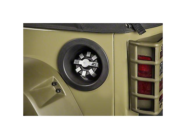 Rugged Ridge Elite Fuel Cap; Brushed Aluminum (20-21 Jeep Gladiator JT)