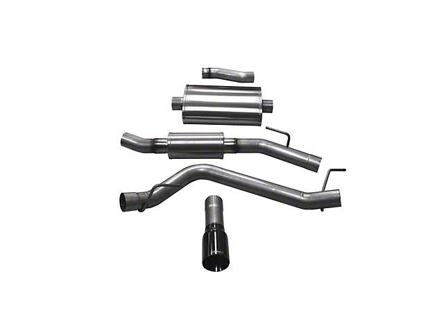 Corsa Touring Single Exhaust System with Black Tip; Side Exit (20-21 3.6L Jeep Gladiator JT)