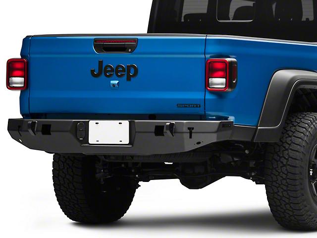 WJ2 Rear Bumper; Not Pre-Drilled for Backup Sensors (20-21 Jeep Gladiator JT)