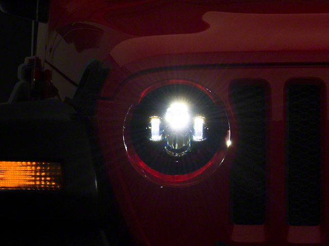 Axial LED Daymaker Headlights; Black Housing; Clear Lens (20-21 Jeep Gladiator JT)