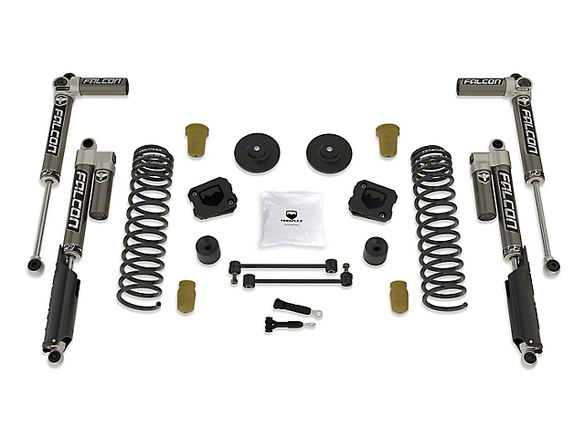 Teraflex 2.50-Inch Sport S/T2 Suspension Lift Kit with Falcon SP2 3.1 Shocks (20-21 3.6L Jeep Gladiator JT, Excluding Mojave)