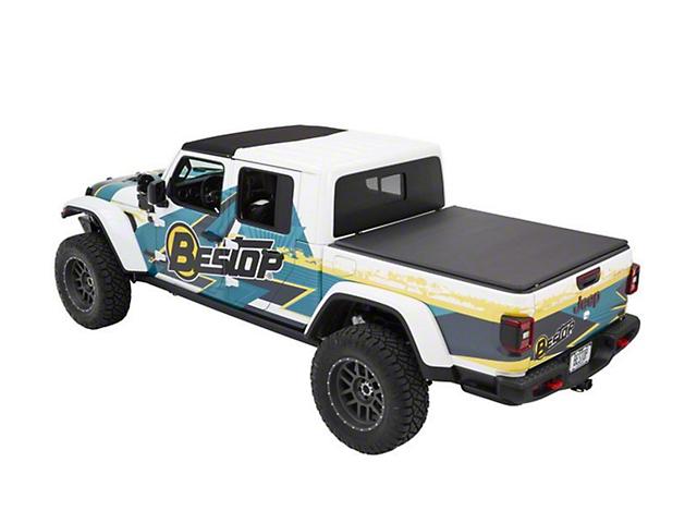 Bestop EZ-Fold Soft Tonneau Cover; Black Twill (2020 Jeep Gladiator JT)