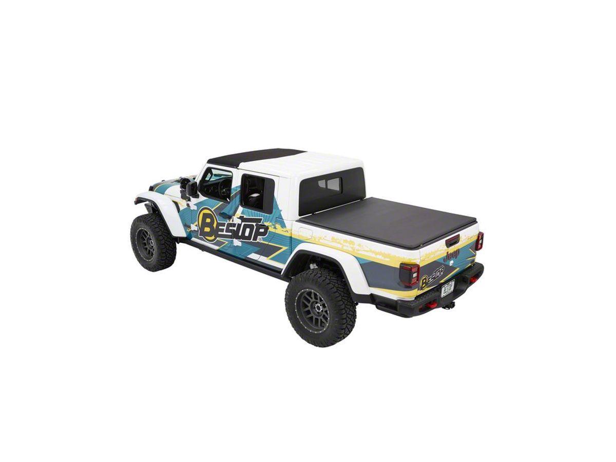 Bestop Jeep Gladiator Ez Fold Soft Tonneau Cover Black Twill 16280 17 20 21 Jeep Gladiator Jt