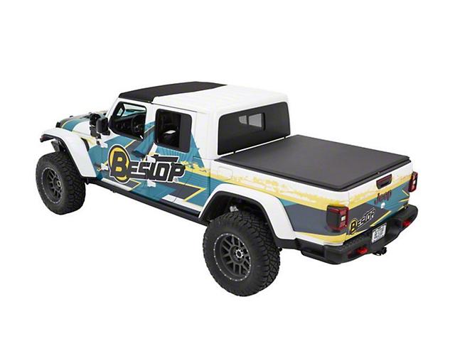 Bestop EZ-Roll Soft Tonneau Cover; Black Twill (20-21 Jeep Gladiator JT)