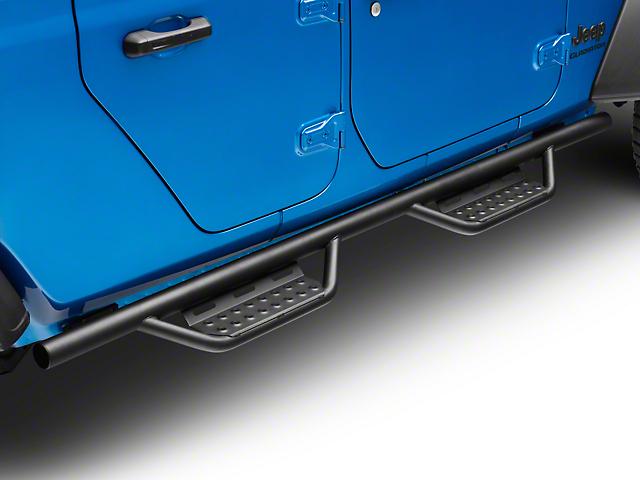 N-Fab Cab Length RS Nerf Side Step Bars; Textured Black (20-21 Jeep Gladiator JT)