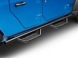 N-Fab Cab Length RS Nerf Side Step Bars; Textured Black (20-22 Jeep Gladiator JT)