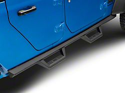Rough Country Contoured Drop Side Step Bars; Black (20-22 Jeep Gladiator JT)
