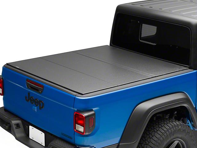 Lomax Hard Tri-Fold Tonneau Cover; Matte Black (20-21 Jeep Gladiator JT)