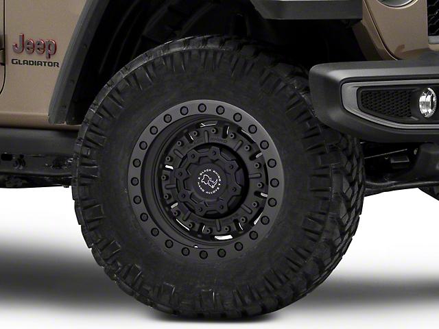 Black Rhino Abrams Textured Matte Gunmetal Wheel; 17x9.5 (20-21 Jeep Gladiator JT)