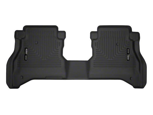 Husky X-Act Contour Second Seat Floor Liner; Black (20-21 Jeep Gladiator JT)