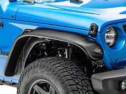 Bushwacker Flat Style Fender Flares; Textured Black (20-22 Jeep Gladiator JT)