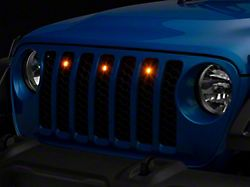 Oracle Pre-Runner Style LED Grille Light Kit; Amber (20-22 Jeep Gladiator JT)