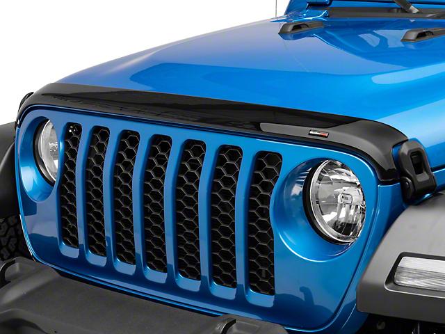 Weathertech Low Profile Hood Protector; Dark Smoke (20-21 Jeep Gladiator JT)