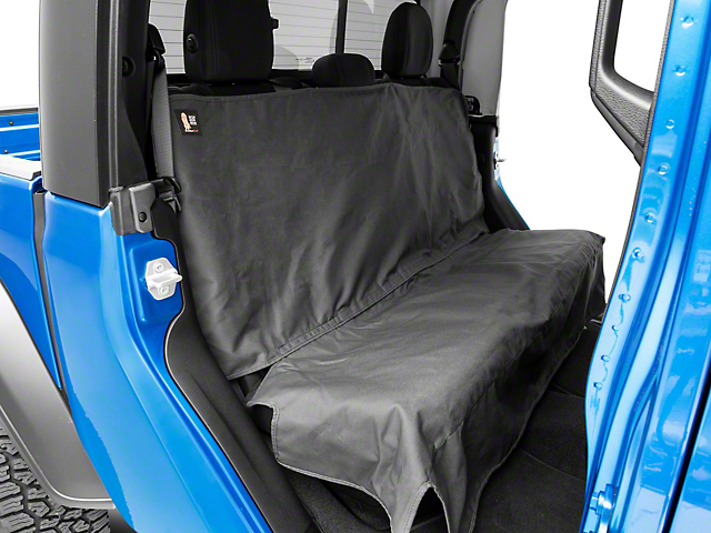 Weathertech Second Row Seat Protector; Charcoal (20-22 Jeep Gladiator JT)