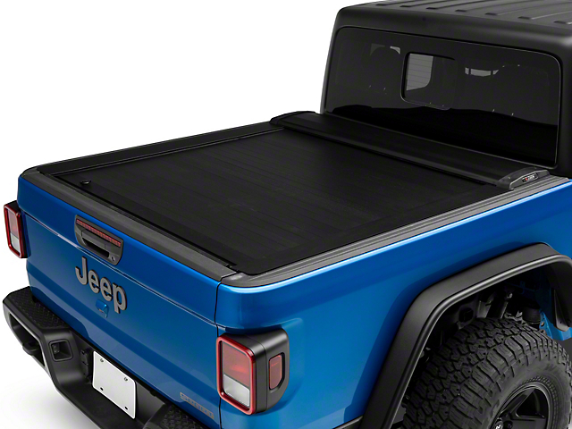 Pace Edwards JackRabbit Full Metal Retractable Bed Cover; Matte Black (20-21 Jeep Gladiator JT)