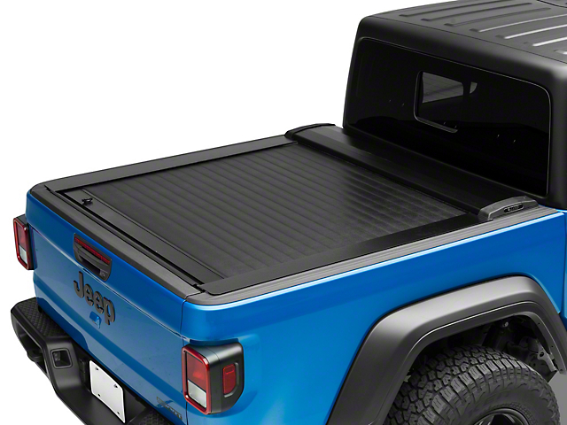 Pace Edwards JackRabbit Retractable Bed Cover; Gloss Black (20-21 Jeep Gladiator JT)