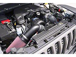 Procharger High Output Intercooled Supercharger Tuner Kit with P-1SC-1; Black Finish (2020 3.6L Jeep Gladiator JT)
