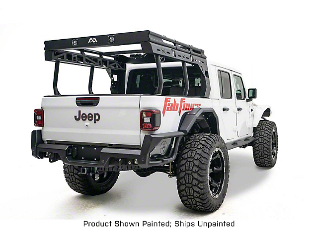 Fab Fours Overland Bed Rack; Bare Steel (20-21 Jeep Gladiator JT)