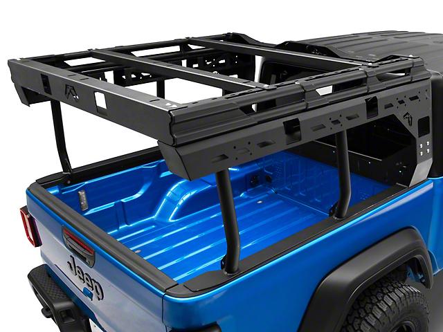 Fab Fours Overland Bed Rack; Matte Black (20-21 Jeep Gladiator JT)