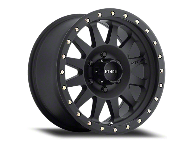 Method Race Wheels MR304 Double Standard Matte Black 6-Lug Wheel; 18x9; 18mm Offset (16-21 Tacoma)