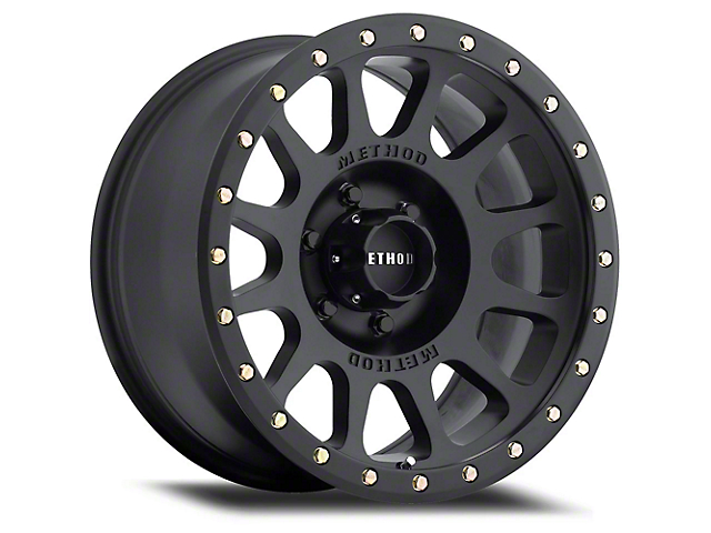 Method Race Wheels MR305 NV Matte Black Wheel; 20x10 (07-18 Jeep Wrangler JK)