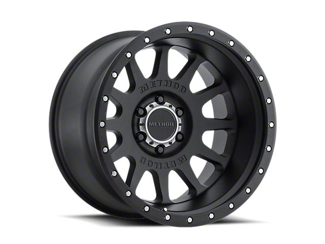 Method Race Wheels MR605 NV Matte Black Wheel; 20x10 (20-21 Jeep Gladiator JT)