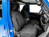 RedRock 4x4 Custom Fit Front and Rear Seat Covers; Black (20-22 Jeep Gladiator JT)